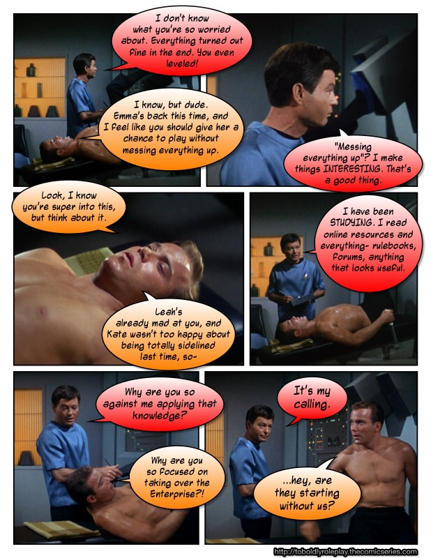 Meanwhile, In Sickbay